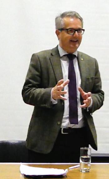 Brendan O'Hara MP talks at conference