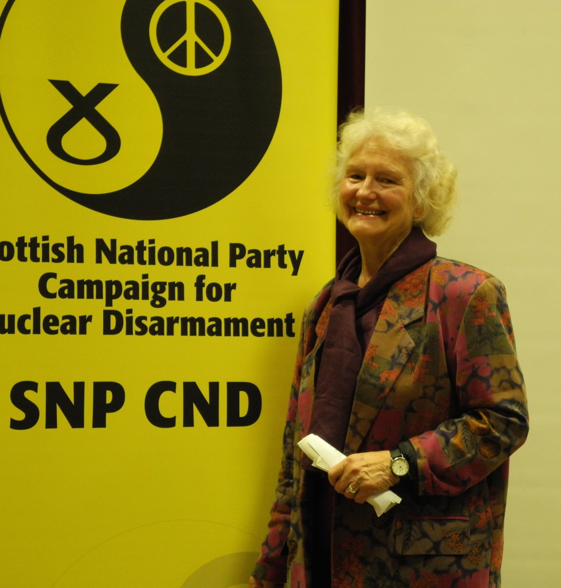 Isabel Lindsay, SCND Vice Chair