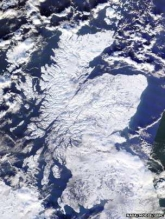 Map of Scotland 2010 covered in snow